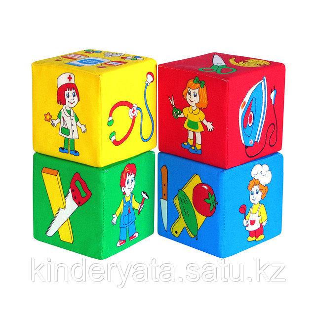 """Набор кубиков """"Профессии""""  Мякиши"""
