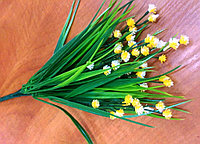 Травка с желто-белыми цветочками (искусственная), фото 1