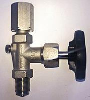 Модель 910.11 игольчатый вентиль для манометра G1/2B, трехходовой, материал нержавеющая сталь WIKA