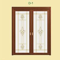 Витражи для межкомнатных дверей, D-1