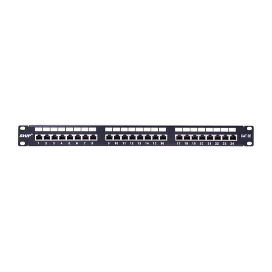 """SHIP P197-24М Патч Панель, FTP, Категория 5e, 19"""" (1U), 24 Порта"""