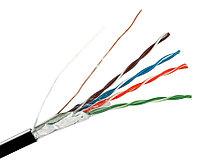 Кабель «витая пара» (LAN) для структурированных систем связи Hyperline FUTP4-C5E-S24-IN-LSZH-OR-305 (FTP4-C5E-SOLID-LSZH-OR-305)