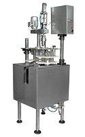 Автоматический укупор для ПЭТ, УА-3000, роторный,  2700 бут/час, с бункером и ориентатором пробки., фото 1