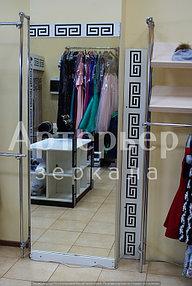 Зеркало для салона красоты (подсветка через рисунок орнамент), г.Алматы 2