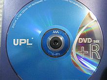 Диски DVD-R UPL 4,7 GB, класс A Grade, Алматы
