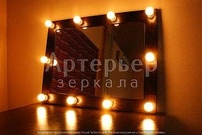 Гримерное зеркало в деревянной раме, г.Алматы 1