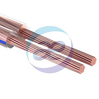 Кабель акустический, 2х0.35 мм², прозрачный BLUELINE, 100 м.  REXANT