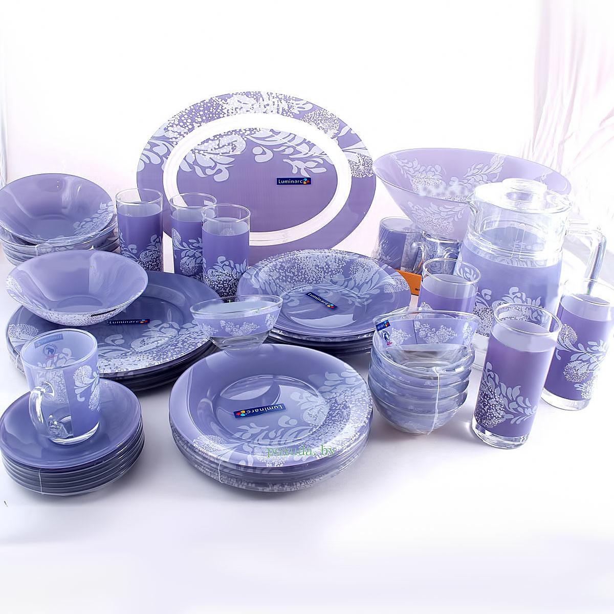 Столовый сервиз Luminarc Piume Violet 45 предметов на 6 персон