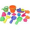 Набор: 16 игрушек для песочницы в сетке
