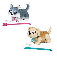 Фигурки собачек в комплекте с косточками и поводком, асс-те