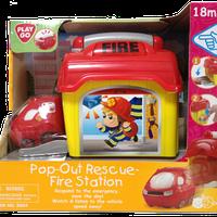 Гараж пожарных с самостоятельно выезжающей машинкой