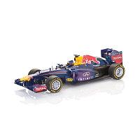 Машина Формула-1 Red Bull D-C RB9 металл. в пластиковом диспенсере 1:64