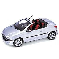 Игрушка модель машины 1:18 Peugeot 206CC