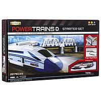 Премиум набор с мостом и локомотивом + Игрушка ж/д Powertrains набор с краном, фото 1
