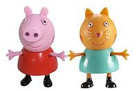 """Игровой набор """"Пеппа и Кенди"""" 5 см. (могут сидеть, стоять, двигать ручками и ножками), фото 1"""