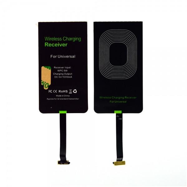 Универсальный беспроводной ресивер (приемник) QI microUSB A-type