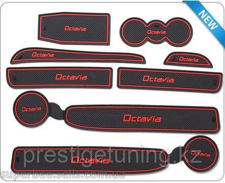 Резиновые коврики на Skoda Octavia new
