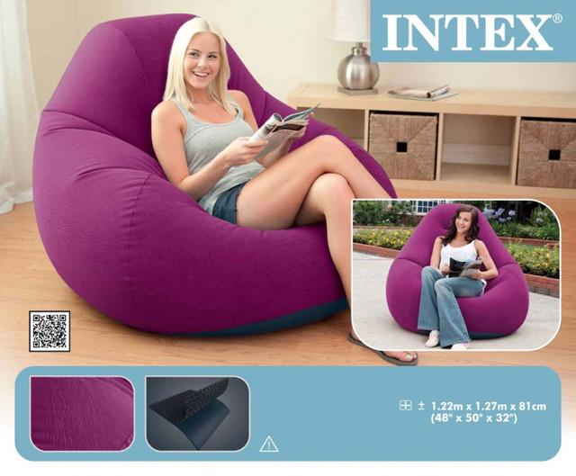 Надувное кресло мешок от фирмы Intex