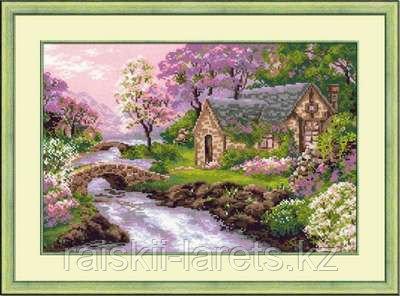 """Набор для вышивания крестом """"Весенний пейзаж""""  1098"""