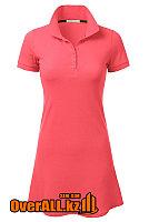 Платье поло розовое