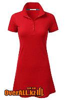 Платье поло красное