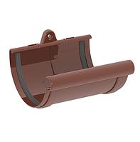 МУФТА ЖЕЛОБА 120 мм / Соединитель желоба  GIZA (КОРИЧНЕВЫЙ)
