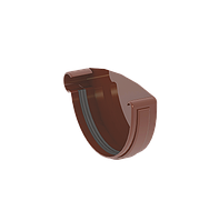 ЗАГЛУШКА ЖЕЛОБА ЛЕВАЯ 120 мм GIZA (КОРИЧНЕВАЯ)