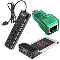 USB-расширители, кардридеры, устройства.