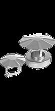 Заглушка-сэндвич верхняя с зонтом d150/200 Профи Нерж. сталь 0,8мм.