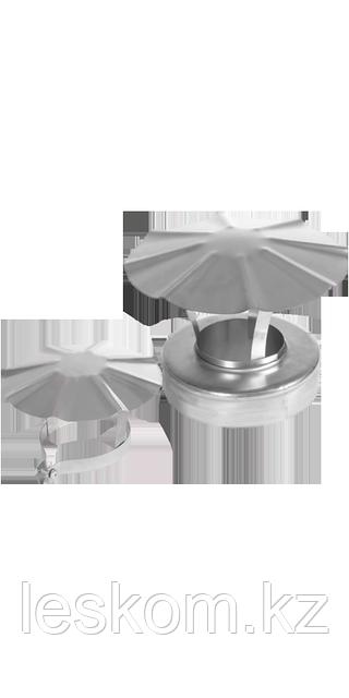 Заглушка-сэндвич верхняя с зонтом d115/200 Профи Нерж. сталь 0,8мм.