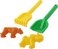 Набор №566: Лопатка №30, грабельки №30, формочки: тигр + мамонт 57594