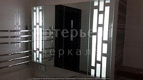 Установка зеркала с подсветкой 4