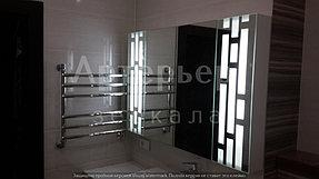 Установка зеркала с подсветкой 5