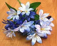 Ветка жасмина бело-голубого (искусственная), фото 1