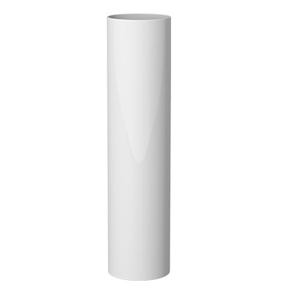 ТРУБА ВОДОСТОЧНАЯ 85 мм, длина 3000 мм GIZA (Белая), 3м