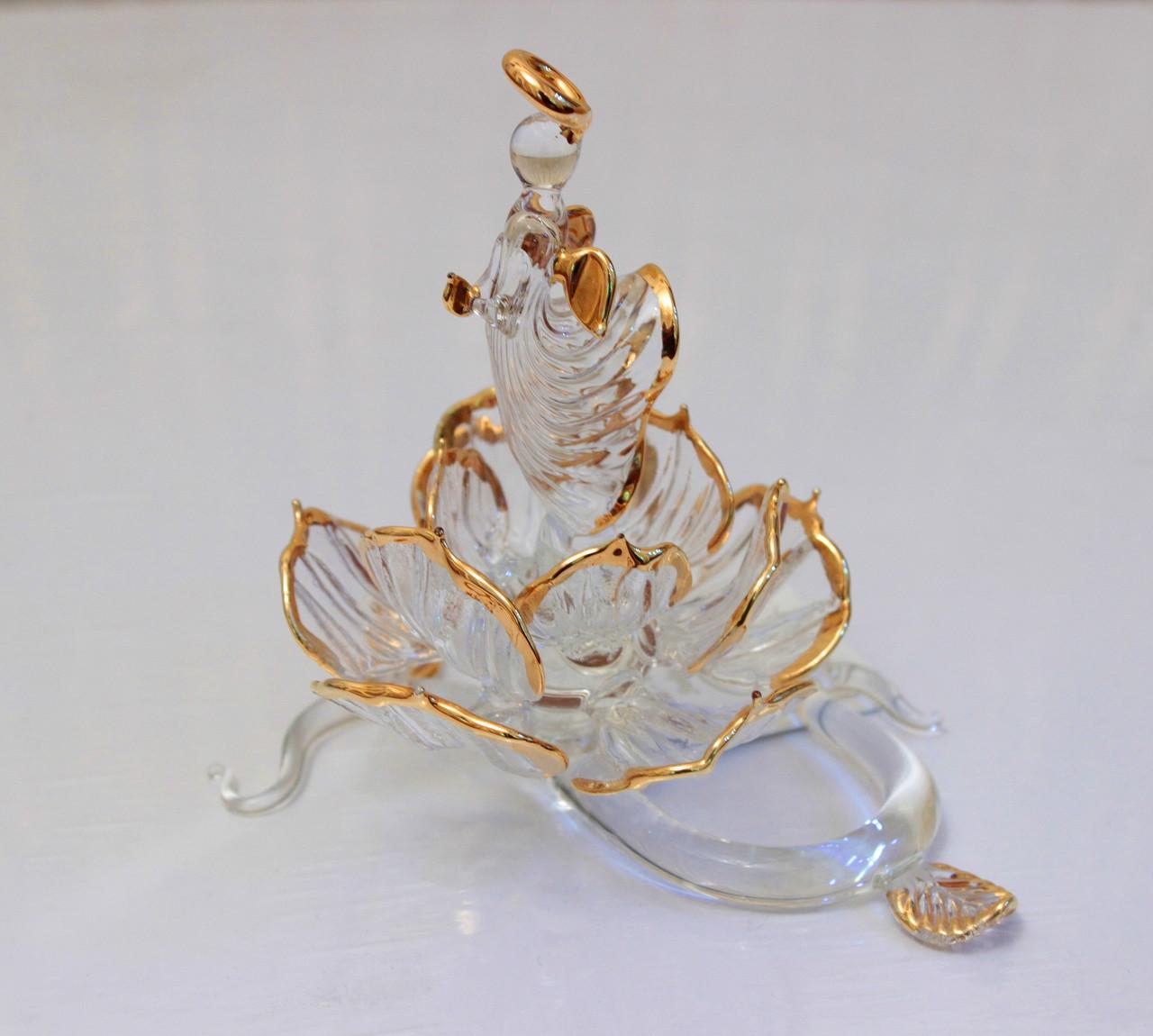 Сувенир Ангел в цветке. Венецианское стекло, Италия, Ручная работа