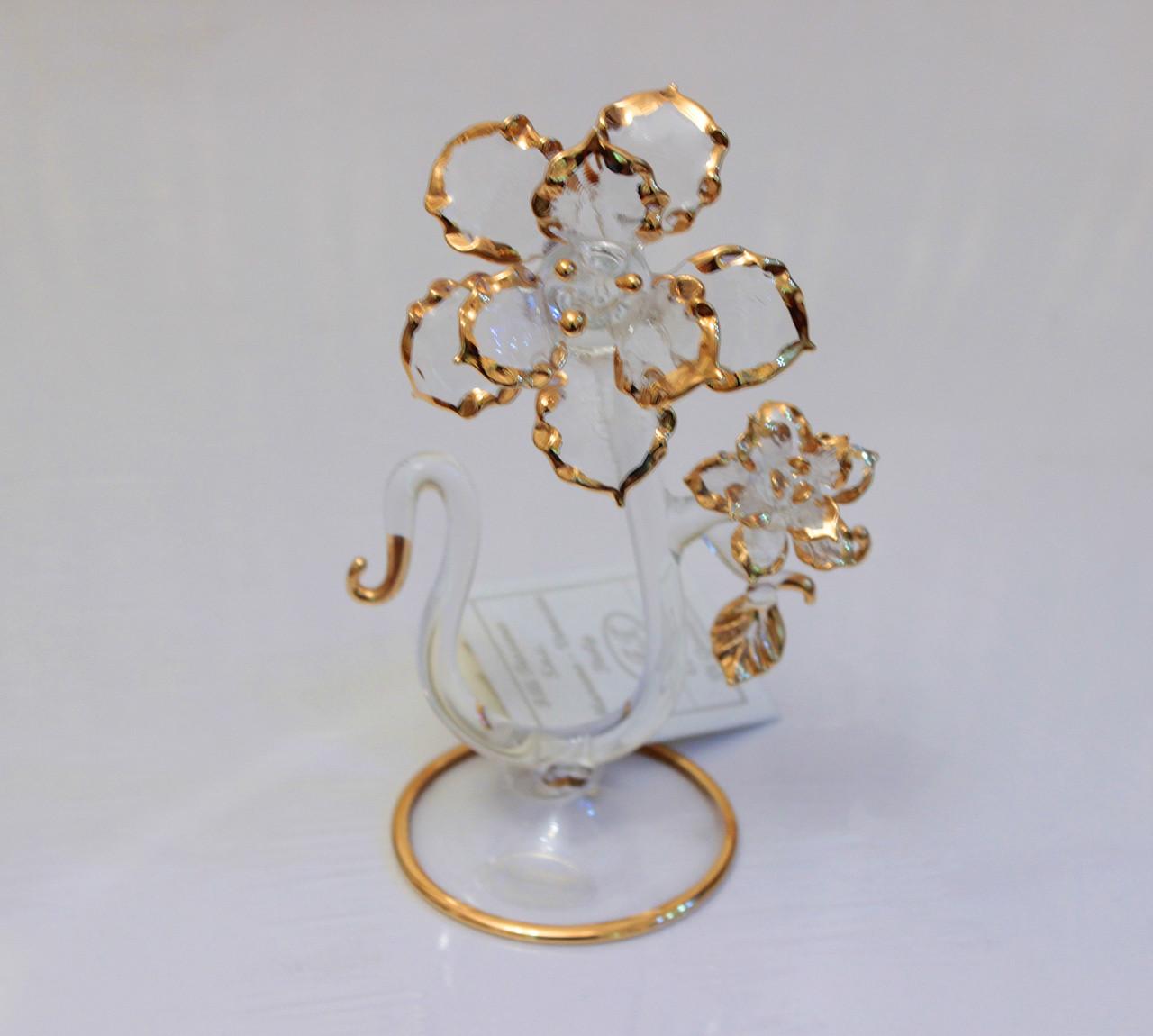 """Сувенир """"Цветок"""". Венецианское стекло. Италия. Ручная работа"""