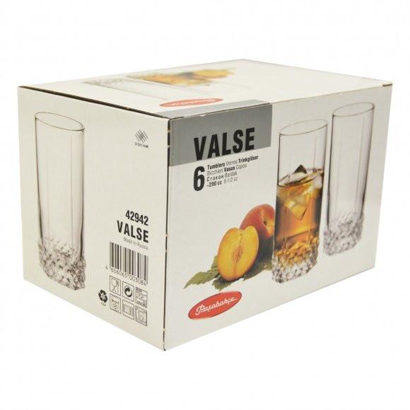 Набор высоких стаканов Valse 6 шт. Pasabahce (42942/6)