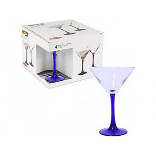Набор бокалов Imperial Blue для мартини 4 шт. Pasabahce (44919/4)