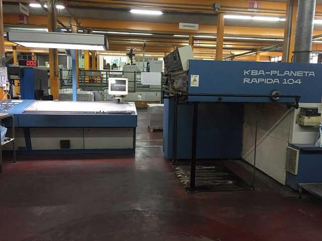 KBA Rapida 104-6+L б/у 1992г - шестикрасочная печатная машина с лаком