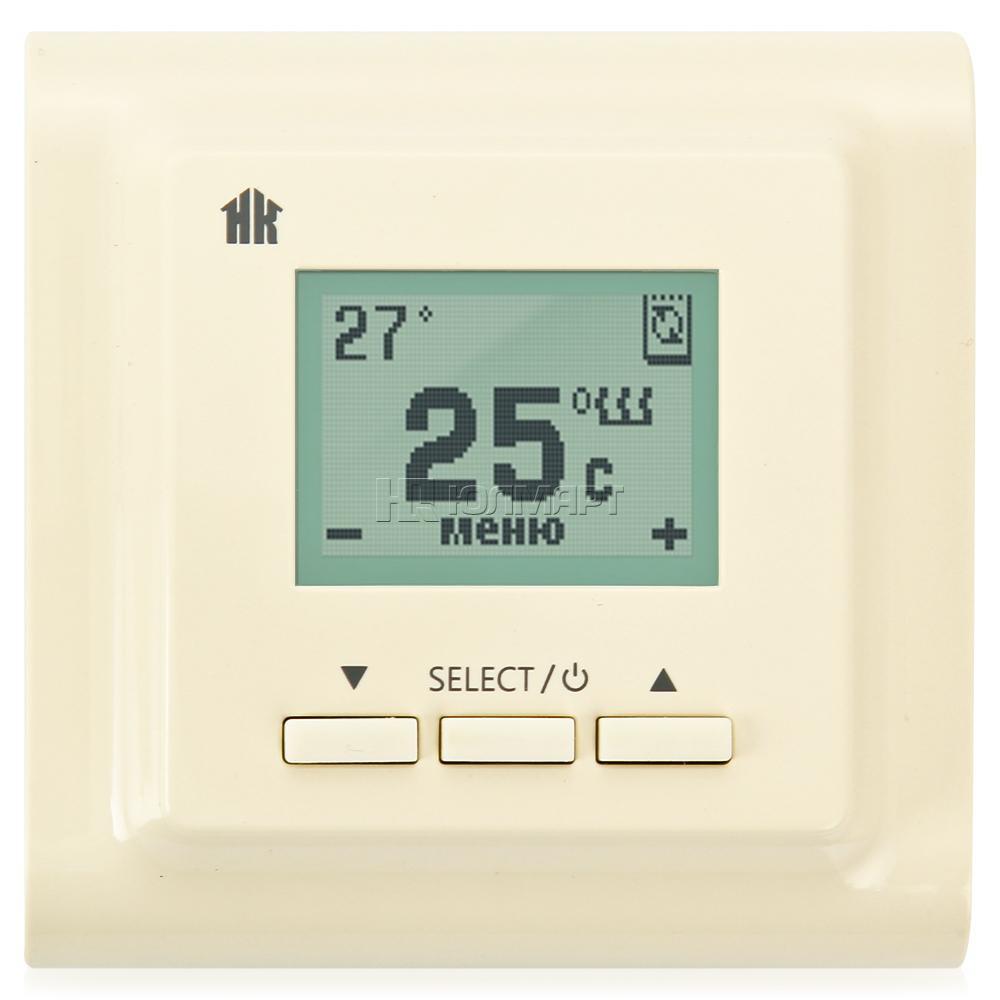 Терморегулятор ТР 721 кремовый (НК)  (теплый пол, греющий кабель)