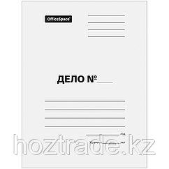 Скоросшиватель картонный немелованный белый 280 гр/м2