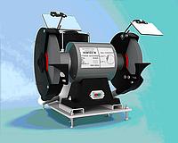 Заточный станок со встроенной вытяжкой и фильтрацией абразивной пыли ЗСВ-25.