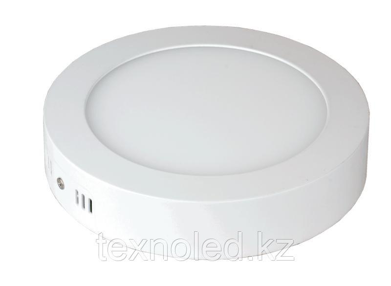 Светодиодный  светильник  12W круглый накладной