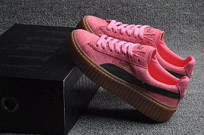 Кеды Puma by Rihanna Suede розовые, фото 2