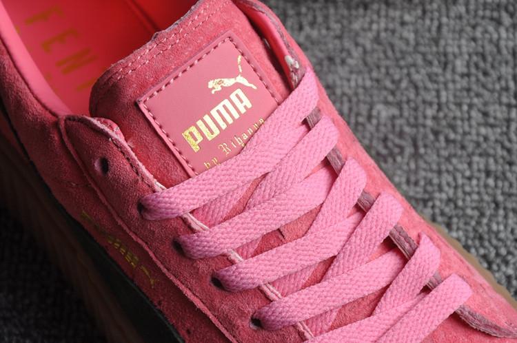 Кеды Puma by Rihanna Suede розовые - фото 3
