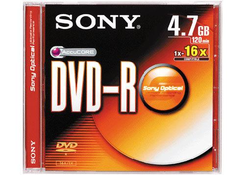 Диск DVD-R SONY 4,7GB slim  16х DMR47S3