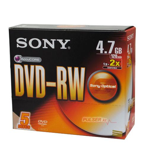 Диск DVD+RW SONY 4,7GB slim