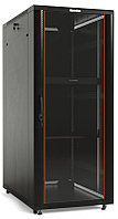 Hyperline TTC2-3761-AS-RAL9004 Шкаф напольный 19-дюймовый, 37U, 1833x600x1000 мм (ВхШхГ), передняя стеклянная