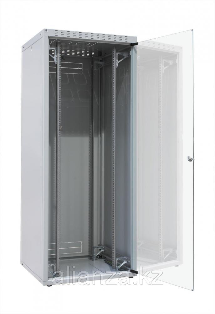 """ZPAS OF-WZ-ECO-47U6080-12AA-01-0000-011 Шкаф напольный 19"""", ECO-LINE, 47U, 600х800мм, стеклянная передняя и стальная задняя двери, стальные"""